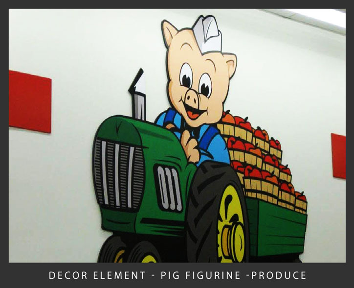 New-Decor-Element-Pig-Figurine-Tractor